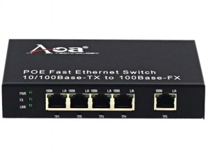 PoE switch 4 porta